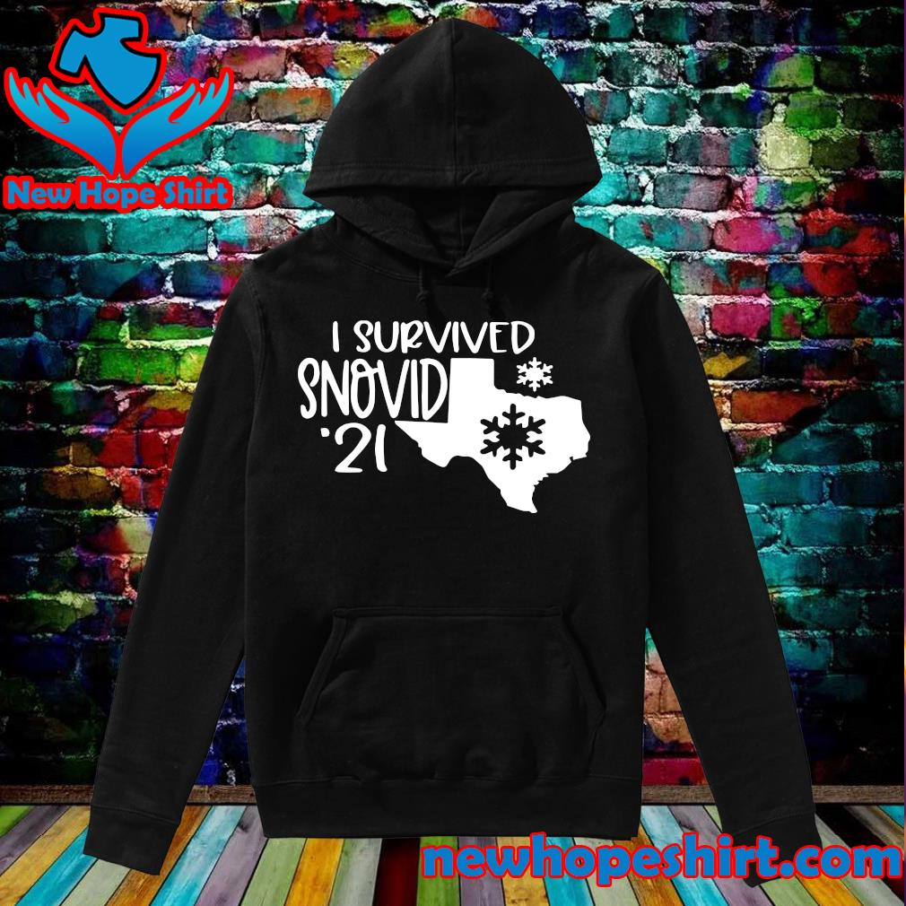 Official I Survived Snovid - 21 Maps Tee Shirt Hoodie