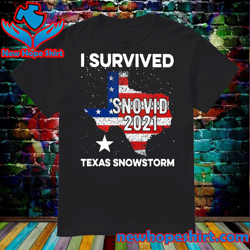 Official I Survived Snovid - 21 Maps Texas Snowstorm Shirt