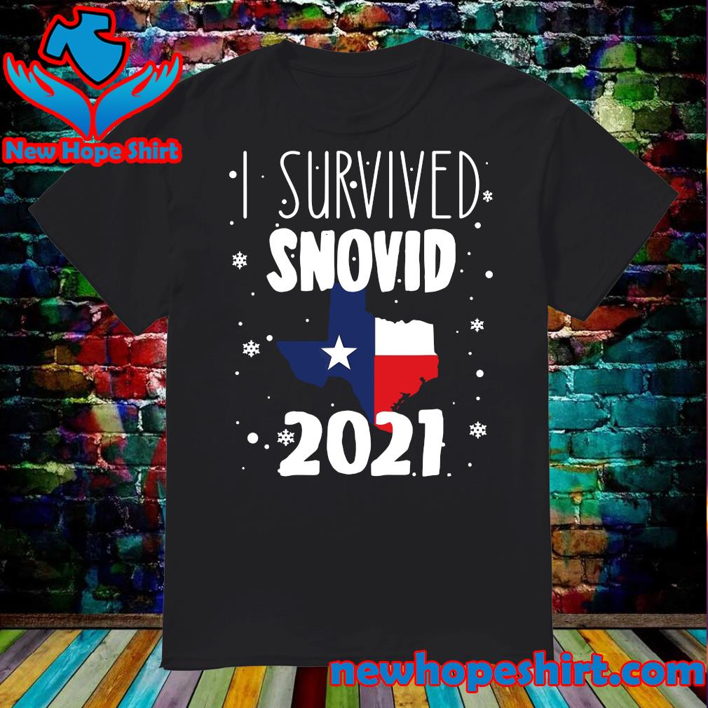 Official I Survived Snovid Maps Texas 2021 Shirt