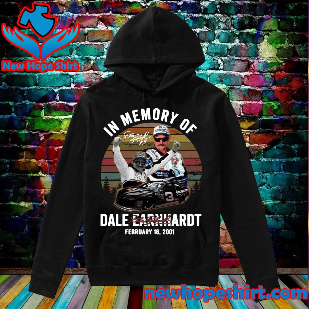 Official In The Memory Of Dale Earnhardt Signature Vintage Shirt Hoodie
