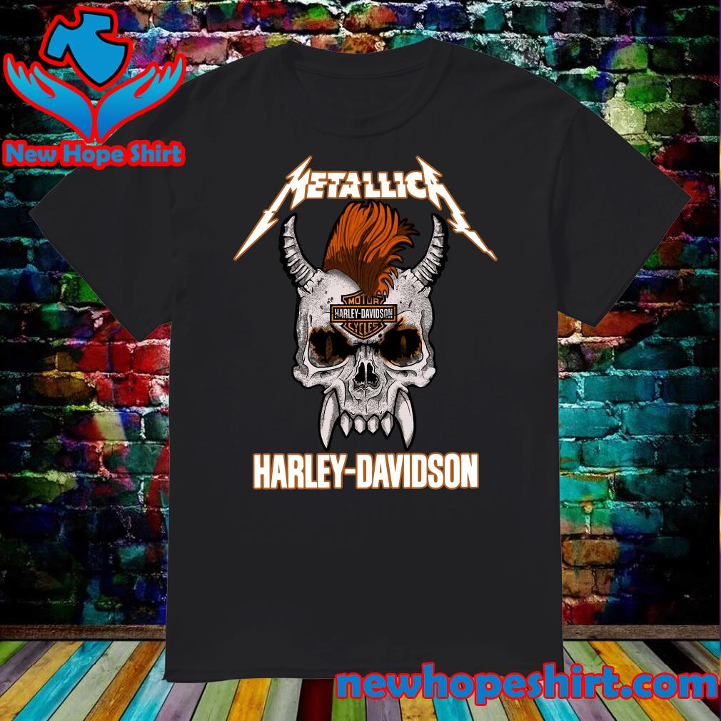 Official Metallica Of Motor Harley Davidson Cycles Shirt