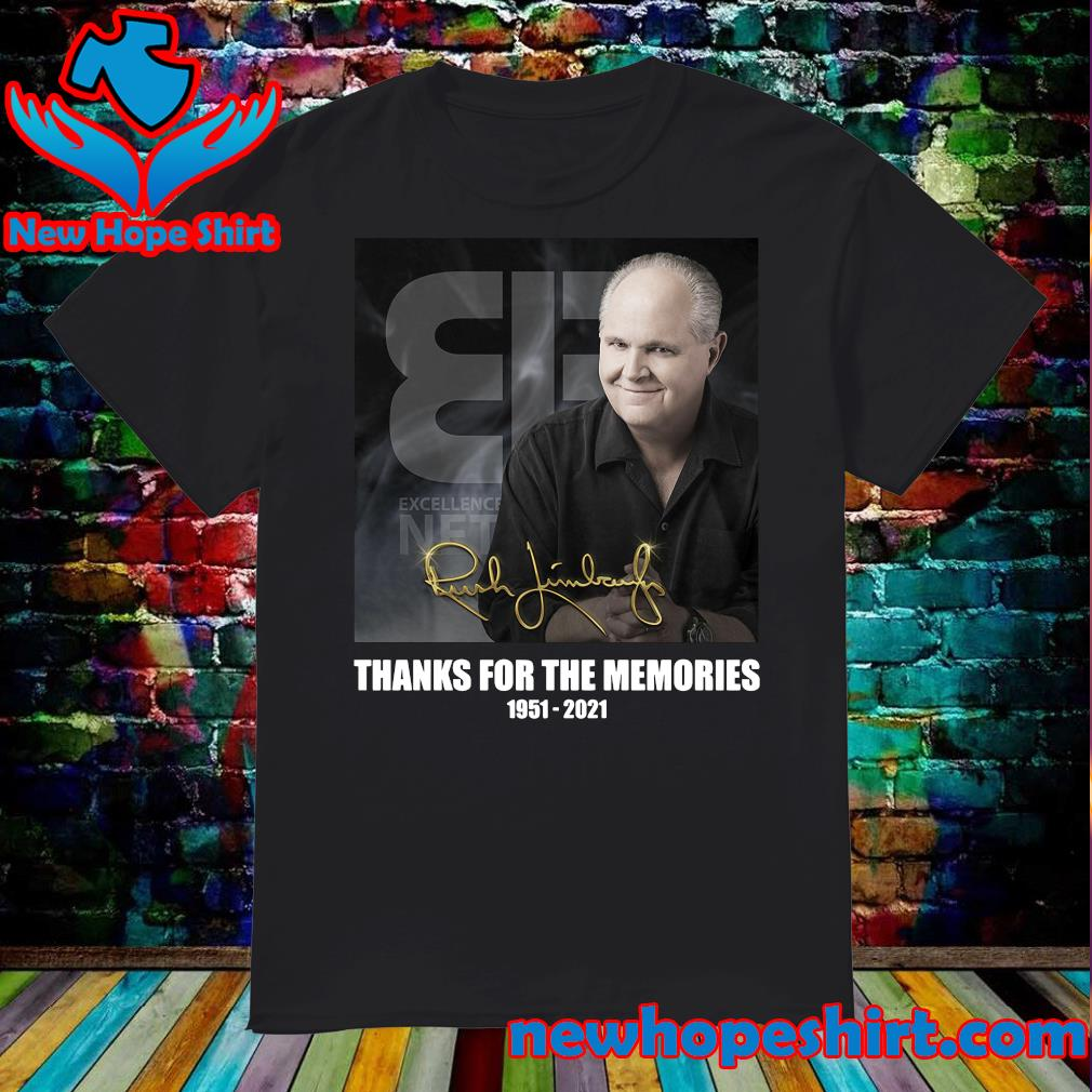 Official The Rush Limbaugh Signature Thanks For The Memories Shirt
