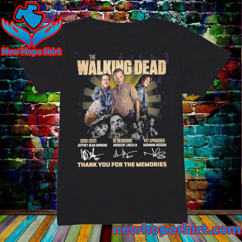 Thanks For The Memories Of The Walking Dead 2010 2021 10 Seasons 147 Episodes Signatures Shirt Ladies