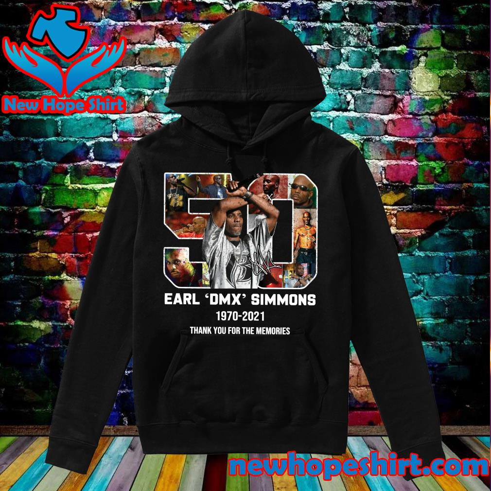 Official 50 Years 1970 2021 The Earl DMX Simmons Signature Thank You For The Memories Shirt Hoodie