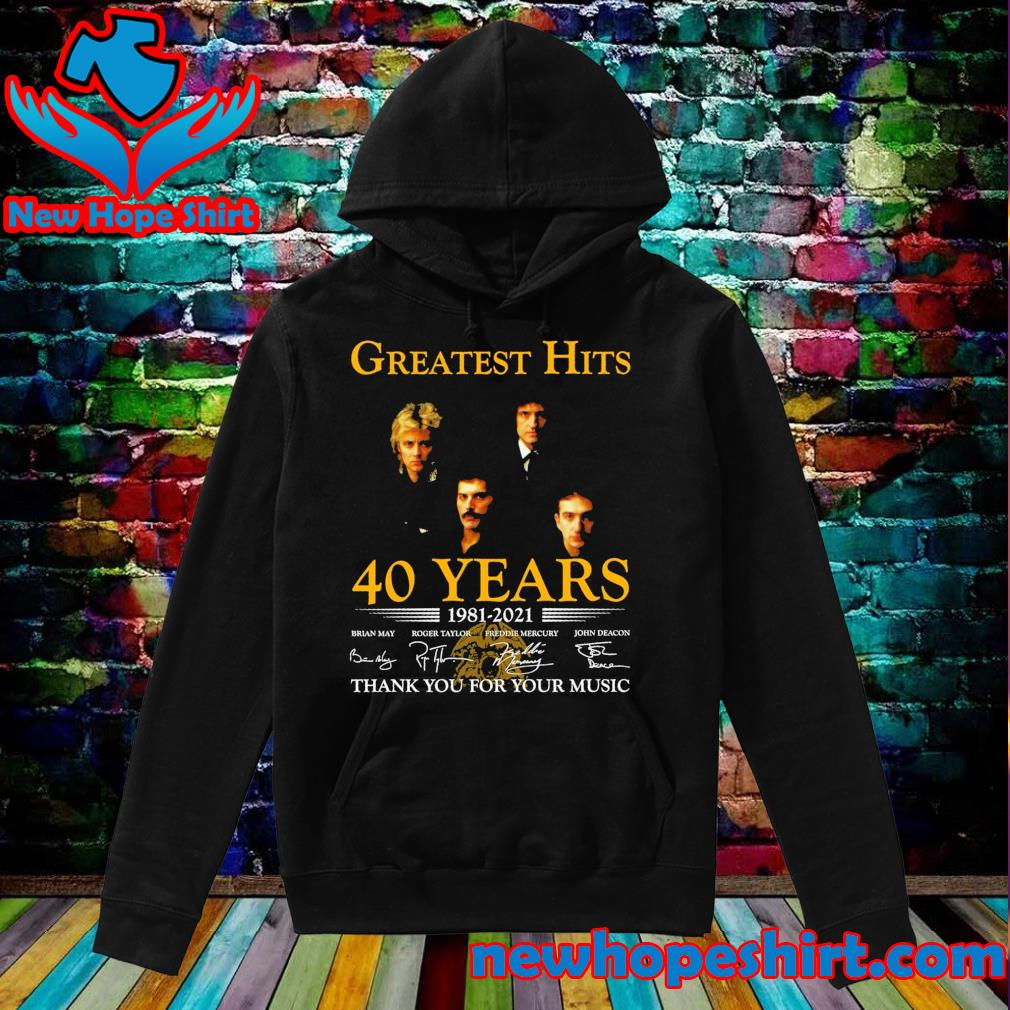 Greatest Hits 40 years 1981 2021 signatures thank you for your music s Hoodie