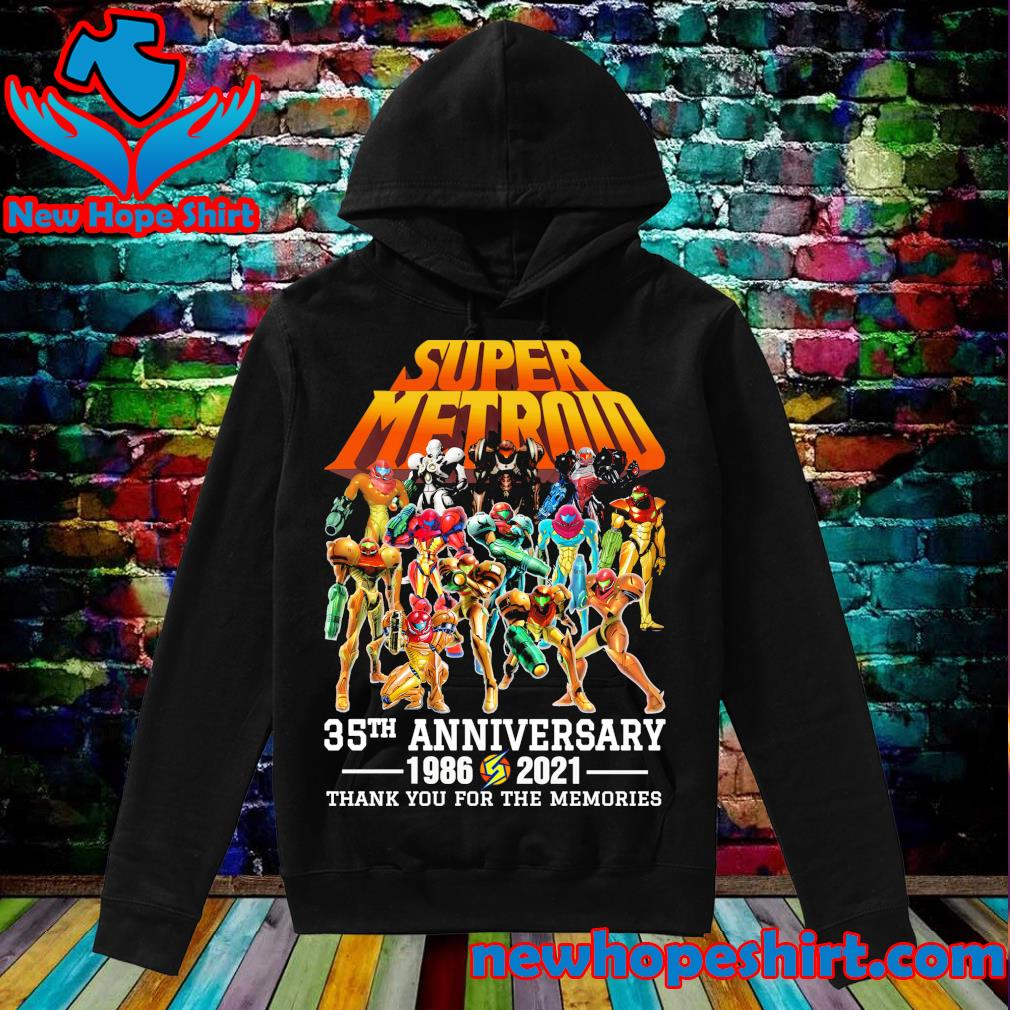 Super Metroid 35th Anniversary 1986 2021 thank you for the memories s Hoodie