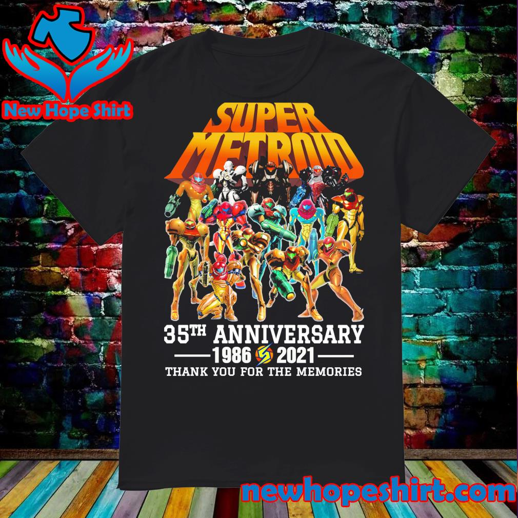 Super Metroid 35th Anniversary 1986 2021 thank you for the memories shirt
