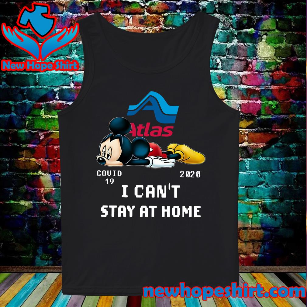Atlas Van Lines Mickey Mouse Covid 19 2020 I can't stay at home s Tank-Top