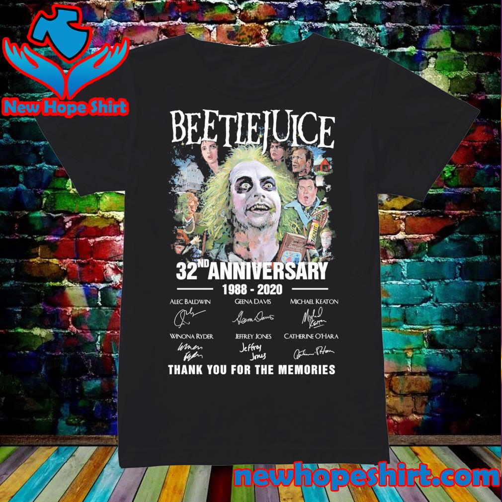 Beetlejuice 32nd Anniversary 1988 2020 signatures thank you for the memories s Ladies