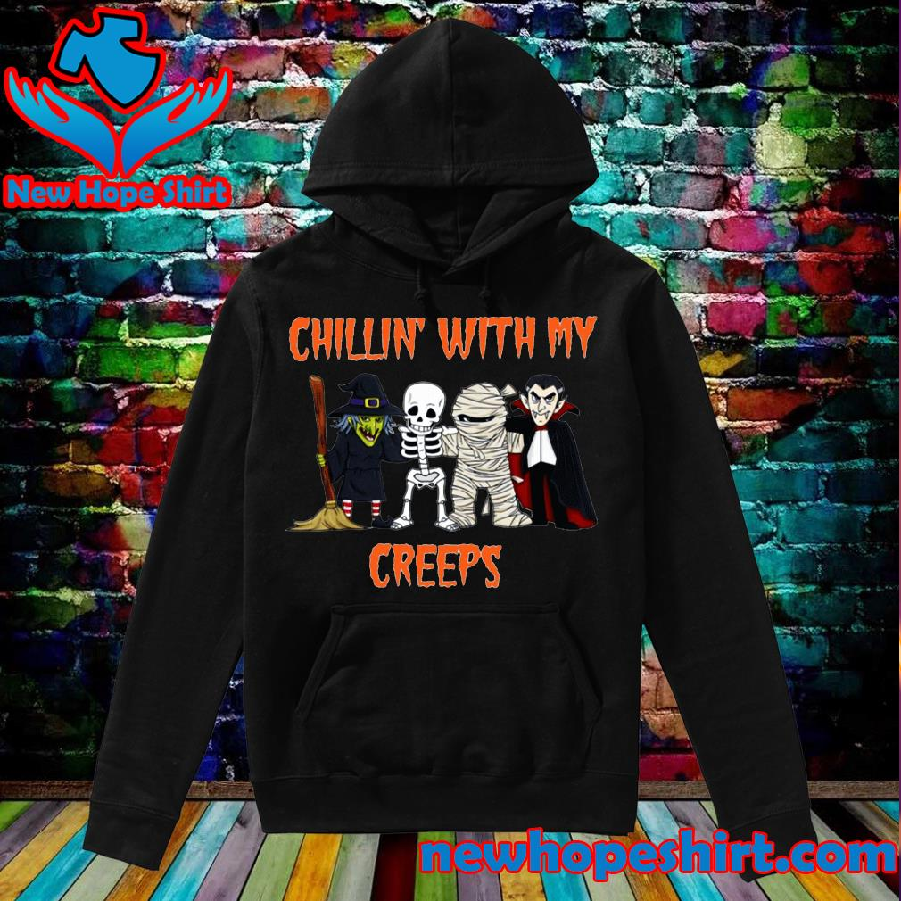 Chillin creeps Vampire witch Halloween s Hoodie