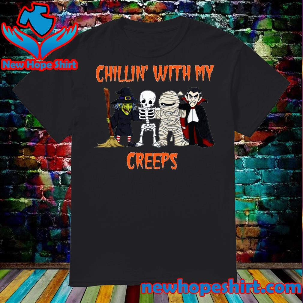 Chillin creeps Vampire witch Halloween shirt