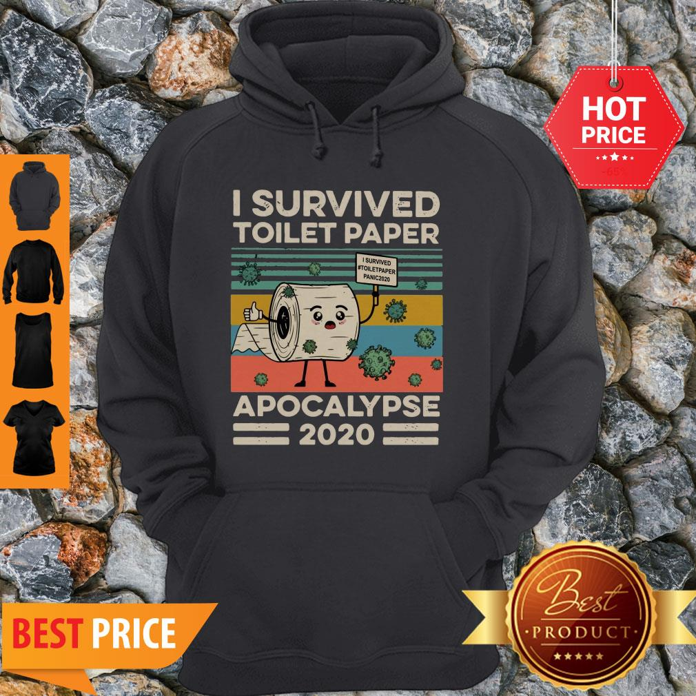 Covid 19 I Survived The Great Toilet Paper Apocalypse 2020 Vintage Hoodie