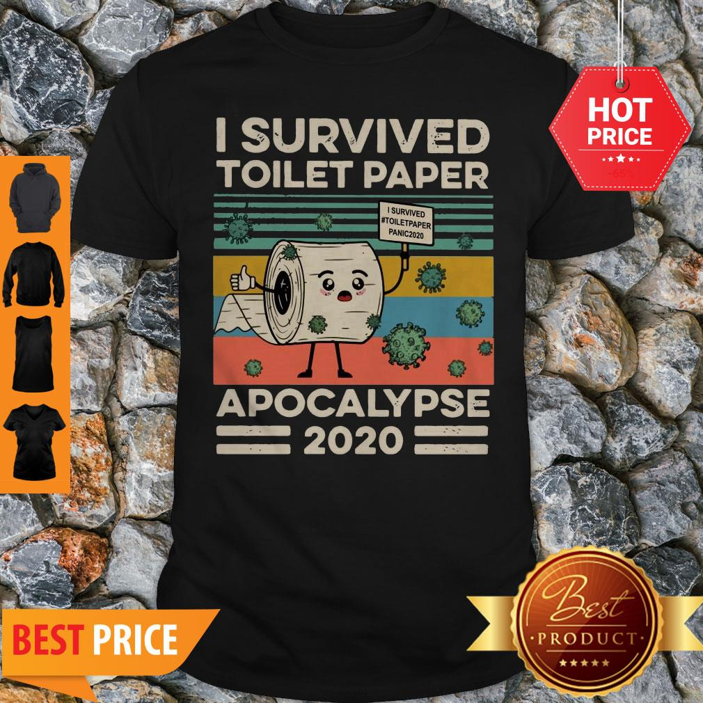 Covid 19 I Survived The Great Toilet Paper Apocalypse 2020 Vintage Shirt