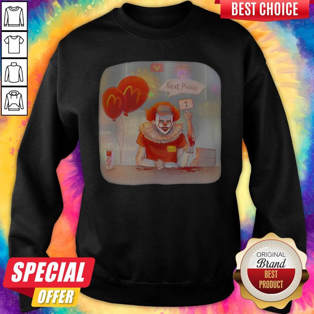 Halloween Joker Mcdonalds Next Please Sweatshirt