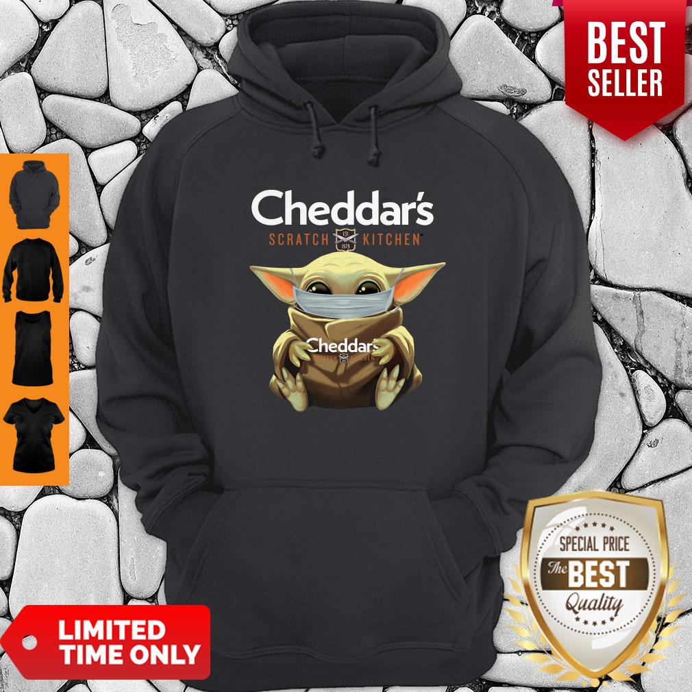 Awesome Baby Yoda Mask Cheddar's Scratch Kitchen Coronavirus Hoodie