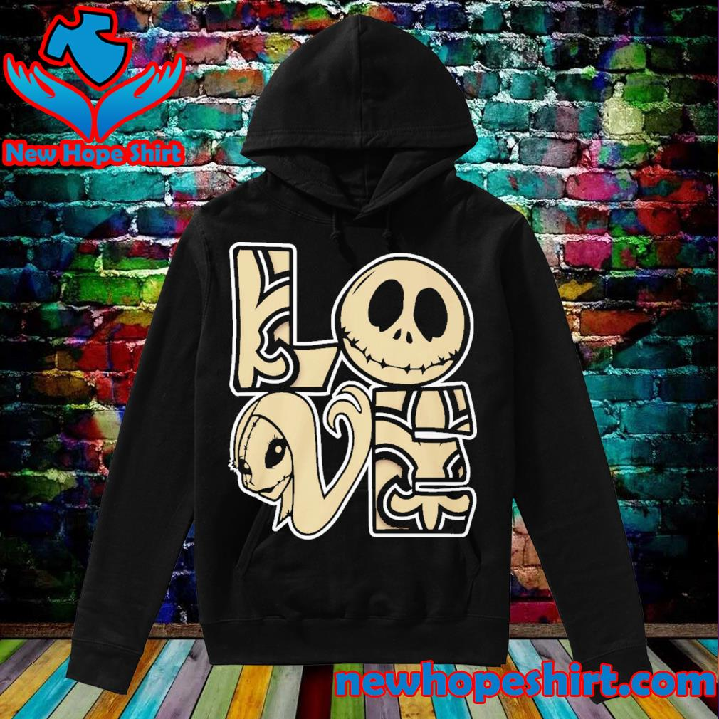 New Orleans Saints Love Jack Skellington and Sally s Hoodie