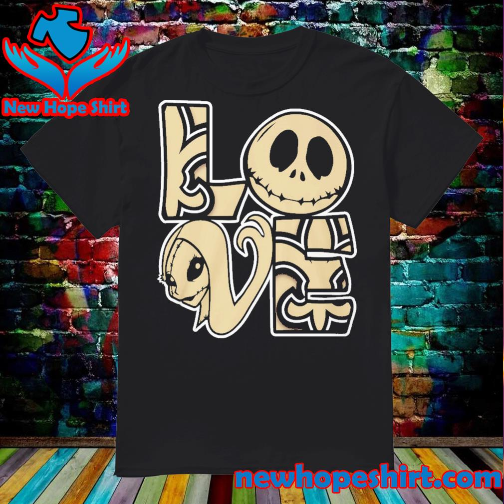 New Orleans Saints Love Jack Skellington and Sally shirt