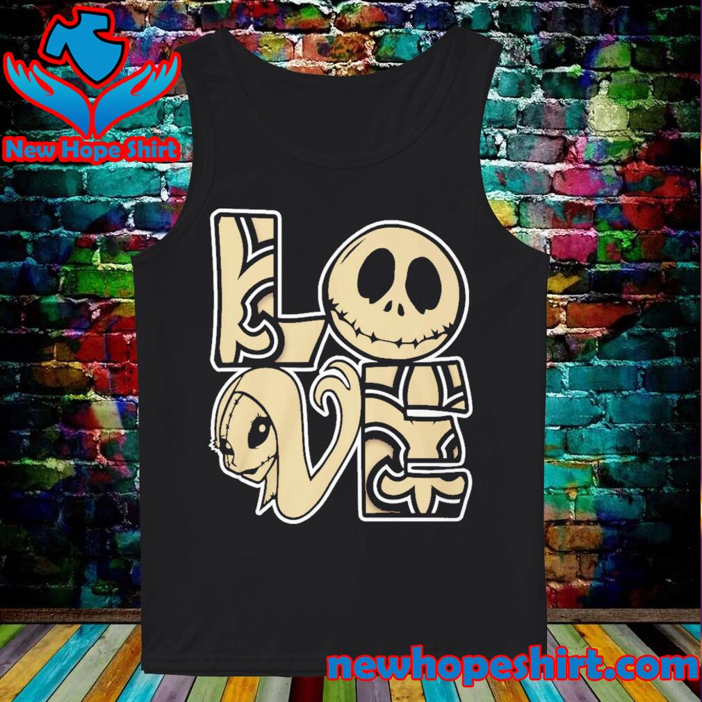 New Orleans Saints Love Jack Skellington and Sally s Tank-Top