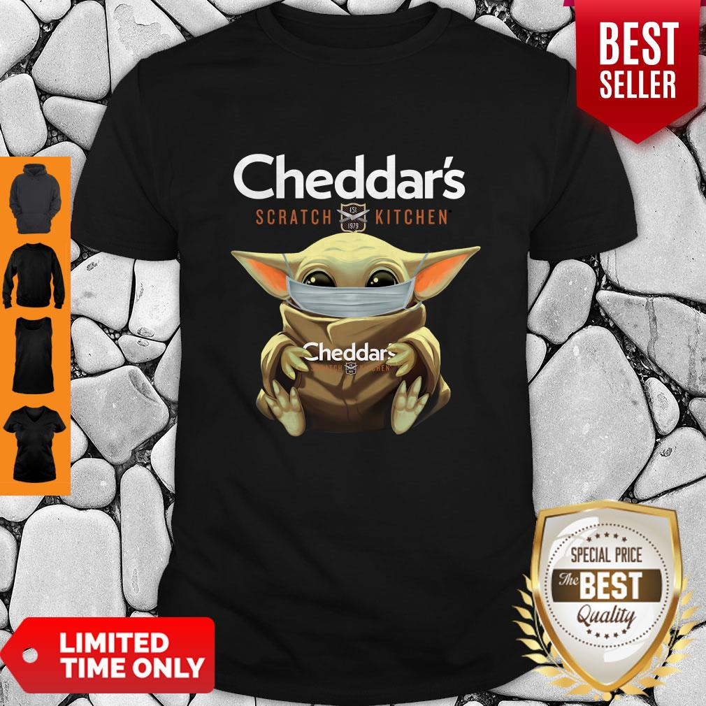 Awesome Baby Yoda Mask Cheddar's Scratch Kitchen Coronavirus Shirt