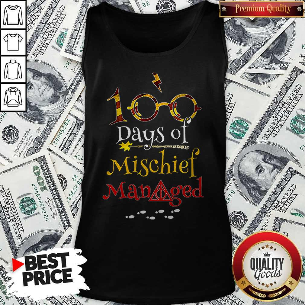 Teacher 100 Days Of Mischief Managed Harry Potter Tank Top