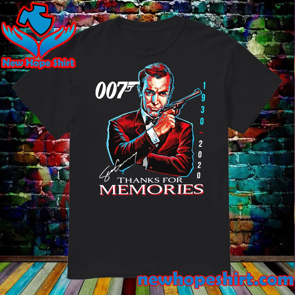 007 Sean Connery 1930 2020 Thank You For The Memories Signature Shirt